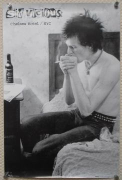 Sid Vicious in a New York Hotel, Maxi Poster 36 x 24